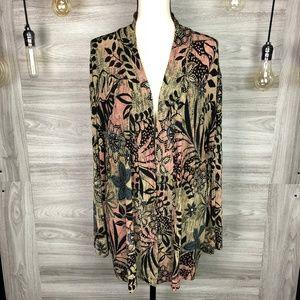 Vikki Vi Alge Floral Jacket Size 3X
